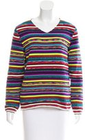Comme des Garcons Striped Metallic Sweater