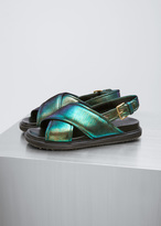 Marni emerald fusbett sandal