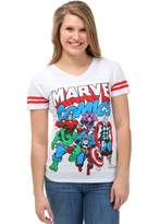 Freeze Juniors womens Marvel Comics Avenger Group Soccer V-Neck Juniors T-Shirt