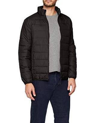 Burton Menswear London Men's Lightweight Funnel Neck Puffer Jacket Black 130, Small (Size:S)
