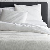 Crate & Barrel Lindstrom White Duvet Covers and Pillow Shams