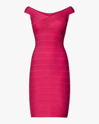 Herve Leger Basics Cocktail Dress Off The Shoulder