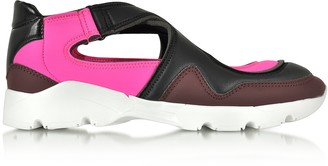Mm6 Maison Martin Margiela Color Block Nylon and Leather Sneakers