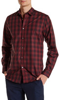 Ted Baker Fulstop Long Sleeve Printed Trim Fit Shirt