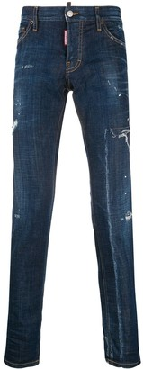 DSQUARED2 mid-rise distressed-effect jeans