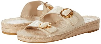 Tory Burch Selby Two-Band Espadrille Slide (Perfect Black) Women's Shoes