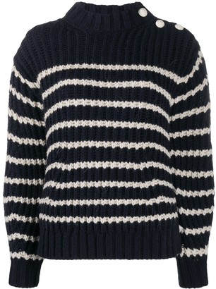 Zadig & Voltaire Chunky Knit Striped Jumper