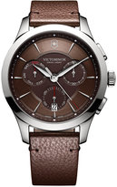 Victorinox Swiss Army Men's Swiss Chronograph Alliance Brown Leather Strap Watch 44mm 241749