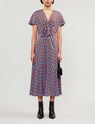 Sandro Catny silk-satin midi dress