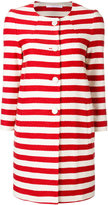 Tagliatore striped coat - women - Cotton/Cupro - 38