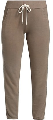 Monrow Glitter Stripe Sweatpants