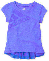 adidas Toddler Girls) Melange Performance Tee