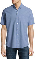 Zachary Prell Billy Check Seersucker Short-Sleeve Sport Shirt