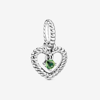 Pandora August Birthstone Heart Dangle Charm