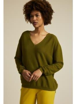 Lanius - Boxy Olive Sweater