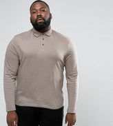 Asos PLUS Long Sleeve Jersey Polo