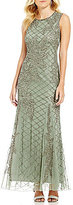 Pisarro Nights Sleeveless Beaded A-Line Gown
