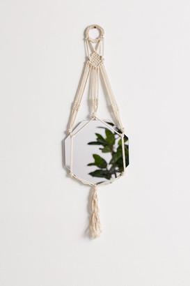 Macrame Sling Hanging Wall Mirror