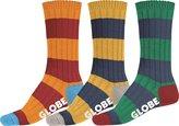 Globe Fat Stripe Boots Deluxe 3 Pack Socks - O/S