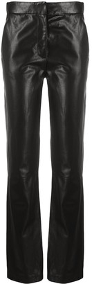 FEDERICA TOSI Slim-Fit Leather Trousers