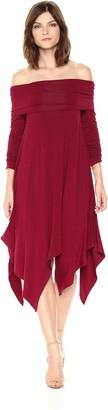 BCBGMAXAZRIA Azria Women's Josanna Knit Off The Shoulder Dress