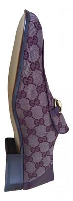 Gucci Jordaan Burgundy Cloth Flats