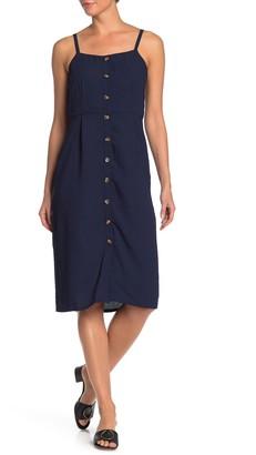 Bobeau Front Button Sleeveless Dress