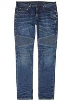Neil Barrett Blue Slim-leg Biker Jeans