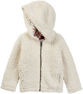 Tea Collection Suyai Faux Shearling Zip Hoodie (Baby Girls)