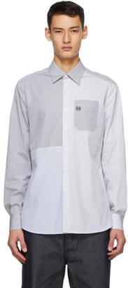 Loewe Blue and White Patchwork Shirt