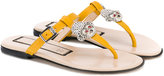 No21 Kids thong sandals