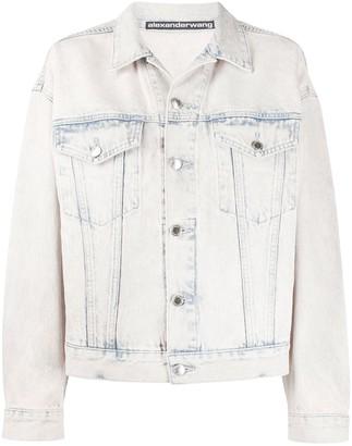 Alexander Wang Acid Wash Denim Jacket