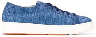 Santoni embossed lo-top sneakers