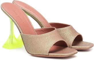 Amina Muaddi Exclusive to Mytheresa Lupita glitter sandals