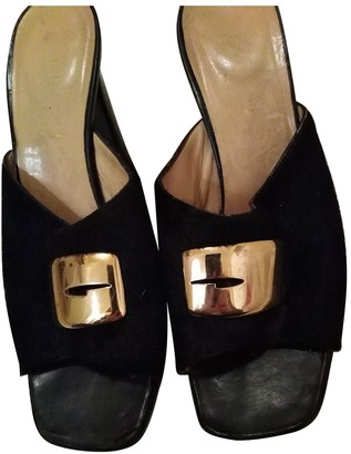 Gucci Black Pony-style calfskin Sandals