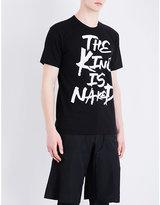 Comme Des Garcons Text-print Cotton-jersey T-shirt