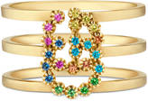Gucci Double G ring with multicolor stones