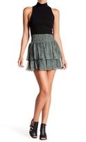 Ramy Brook Annabelle Ruffle Print Silk Skirt