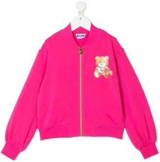MOSCHINO BAMBINO Teddy Bear Bomber Jacket