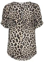 Joie Amone Animal Print Top in Parchment