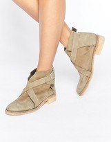 Free People Las Palmas Olive Leather Ankle Boots