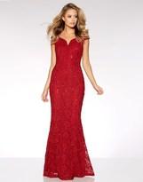 Quiz Lace Sequin Bardot Maxu Dress