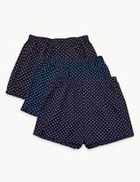 M&S Collection 3 Pack Pure Cotton Boxers