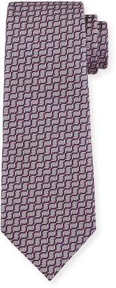 Ermenegildo Zegna Men's Intertwined Silk Tie, Pink