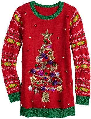 It's Our Time Girls 7-16 Christmas Tree Tunic