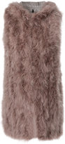Wlg By Giorgio Brato peacock feathered padded gilet