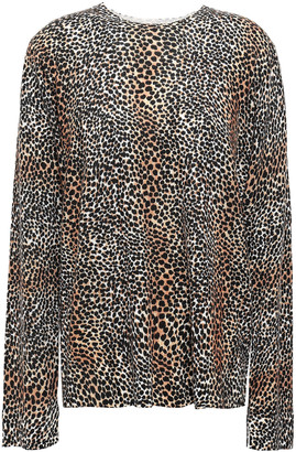 Equipment Leopard-print Wool Sweater