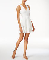 Bar III Layered Fit & Flare Dress, Only at Macy's