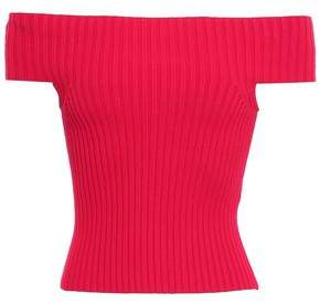 Kate Spade Cropped Ribbed-knit Top