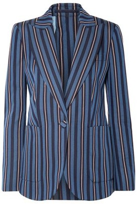 Burberry Striped Wool-blend Jacquard Blazer